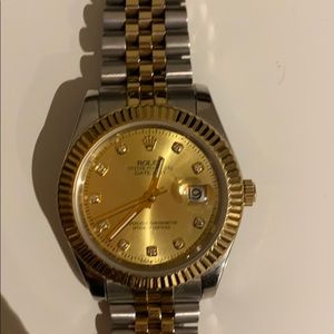 gold and silver unisex Rolex NWOT